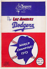 RARE 1963 World Series Champions Los Angeles Dodgers- The Masquers Program