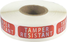 Tamper Resistant Labels, 0.5 x 1.5 Inch Rectangle, 500 Stickers per Roll