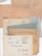 * 1939/40 10 x FRANCE COVERS - POSTE AUX ARMEES POSTMARKS - WW2
