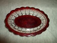 Clare Mi Mich Michigan  eapg ruby flash souvenir dish