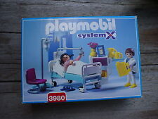 Playmobil 3980 HOSPITAL ROOM SYSTEM X  one owner  very nice