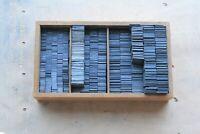 2p Quadraten Sortiment - Ausschluss Blindmaterial Buchdruck Letterpress Bleisatz