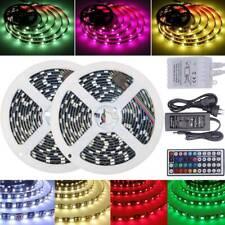 RGB LED Strip Lights 5050 SMD Waterproof 1m-30m 12V 44key IR Controller Adapter