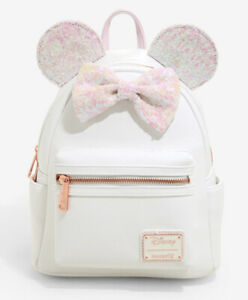 Loungefly Disney Minnie Mouse Sequin Mini Backpack NWT