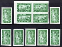 Romania 1933 official stamp issues mint imperf
