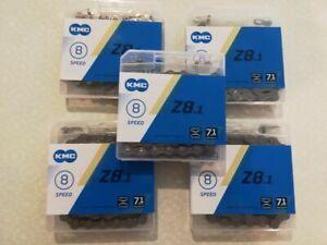"""5 KMC Z8.1 6 7 8-Speed MTB Road Bike Chain 116L 3/32"""" fits 8-Speed Shimano SRAM"""