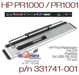 HP Compaq Port Replicator PR1000 PR1001 NC4010 NC6000 NC8000 Evo N800 331741-001