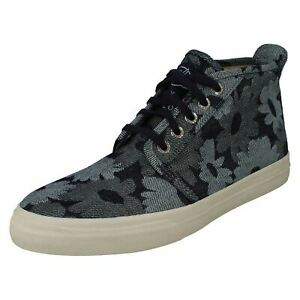 MENS SPERRY CLOUD CHUKKA  LACE UP WINTER CANVAS ANKLE BOOTS TRAINERS JACQUARD