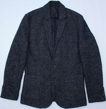 River Island Tweed Boyfriend Blazer Jacket - UK Size 14 - Navy Blue - Womens