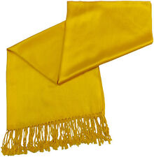 Yellow Gold Solid Colour Design Shawl Pashmina Scarf Wrap Stole CJ Apparel *NEW*