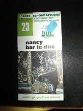 carte IGN serie verte 23 nancy bar le duc 1981