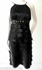 Mr K   rrp $389.00 Size 8 US 4 Black Sleeveless Empire Waist Ruffle Dress