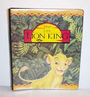 Disney Lion King Skybox Album Binder Vintage 1990s 3-Ring