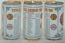 1985 PITTSBURGH STEELERS NFL CHAMPION FOOTBALL SCHEDULE PENN SPORTS TIN BEER CAN