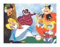 Alice in Wonderland Cartoon Cross Stitch DIGITAL Counted Pattern Needlepoint