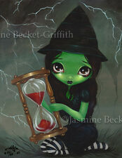 Wicked Witch Hourglass Jasmine Becket-Griffith CANVAS PRINT wizard of oz fairy