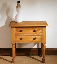 Hampton waxed pine furniture side end telephone table