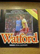 06/03/1985 Watford v Luton Town [FA Cup Replay] . Item In very good condition un