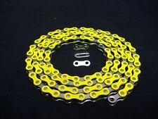 YELLOW & CHROME 1/2 X 1/8 - 112 CHAIN LOW RIDER BICYCLE