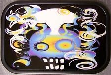 Metal TATTOO belt buckle Halloween Trippy Skull NEW