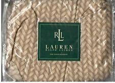 Ralph Lauren Desert Plains Wicker Sand Brown Queen Bed Skirt Southwestern New