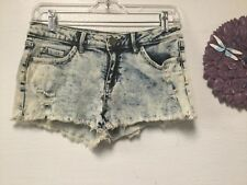 Ladies distressed shorts size M low rise fit five pockets Sneak Peek 152