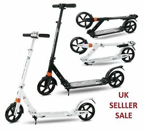 Folding Scooter Bike Big Wheel Scooter W/ Suspension Adult Commuter With
