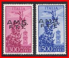 TRIEST / ITALY 1948 SC#C14-15 FRESH VF MH SCARCE CV$80.00 (E15)