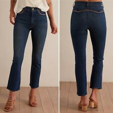 NEW MOTHER Snap Hustler Ankle Flare Jeans Sz 27 WHAT I HAD BEFORE I HAD YOU $228