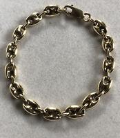 Vintage 9ct Yellow Gold Coffee Bean Link Bracelet 20.61g
