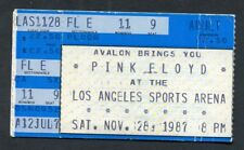 1987 Pink Floyd Concert Ticket Stub A Momentary Lapse Of Reason Tour Los Angeles