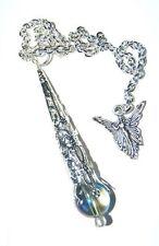 Mystic Celestial  Blue Aura Quartz Crystal Pendulum & Angel B Grade Pale Sale