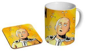 One Punch Man Manga Anime - Coffee / Tea Mug And Coaster Gift Set