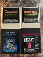 Atari 2600 Vintage Game Lot Of 4 Donkey Kong, Pinball, Inferno, Mouse Trap