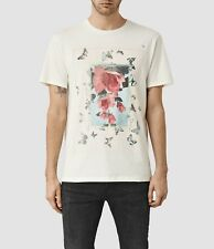 Allsaints Cotton Relax Fit Short Sleev Taped Print Crew Neck T-shirt £58  XS - L