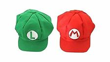 Luckystone Super Role Play Bros Hat Mario Luigi Cap Cosplay Free Shipping