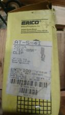 """Caddy Erico Inc At-S-4I Acoustical """"Tee Bar"""" Clips Lot Of 100 Electrical Clips"""