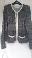 Edina Ronay elegant designer knit jacket cardigan with angora & mohair