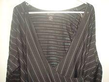 Lane Bryant Black Wrap Style Empire Waist Top Blouse  Plus Size 18/20 2x EUC