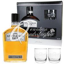 JACK DANIEL'S WHISKEY GENTLEMAN JACK Daniels Whisky + 2 CALICE DEGUSTAZIONE