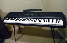 Black Korg Sp-280 88 Weighted Keys Portable Stage Piano/ Built In Speakers