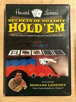 Howard Lederer - Secrets of No Limit Hold Em (DVD, Poker, Texas Hold Em) - F1124