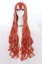 Y-20-25 orange 100cm Cosplay Wig Perücke Perruque Anime Curl Locken