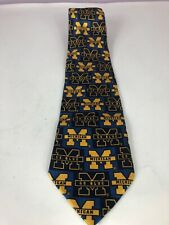 University of Michigan Wolverines Silk Tie by Merge Left