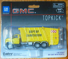 Boley HO #185-301688 2003 GMC Topkick 3-Axle Garbage Truck -- yellow