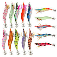 Luminous Tail Squid Jigs Fishing Lures 2.5# 3.0# 3.5# 4.0# Squid Bait Jig Hooks