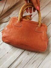 Miu Miu Tan Vintage Real Leather Small Handbag Bag Clutch