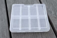 Small 8 Compartment Plastic Storage Organiser Craft Container Box