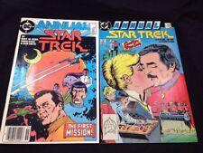 Star Trek Annuals #1 & #2 DC Comics Kirk Spock McCoy TOS  VF 1980s