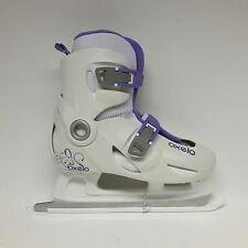 OXELO play 3 Ice skate blanc/violet réglable 34-36 enfants patin à glace-sale